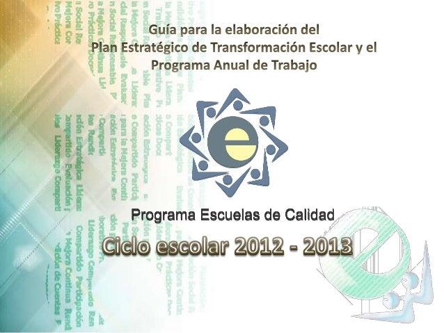 REQUISITOS PARA PARTICIPAR EN EL PROGRAMA ESCUELAS DE CALIDAD. • Escuela Pública de Educación Básica. • Participación volu...