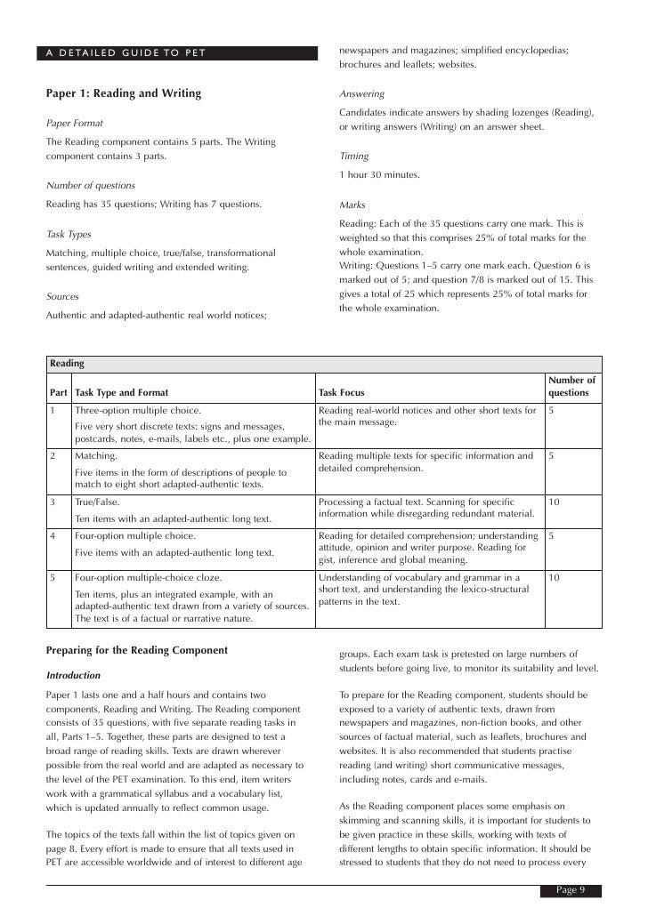 A D E TA I L E D G U I D E TO P E T                                   newspapers and magazines; simplified encyclopedias; ...