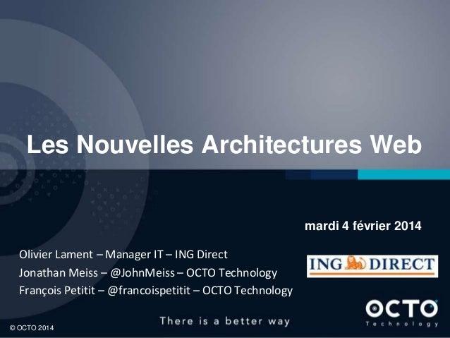 Petit déjeuner OCTO Technology - Nouvelles Architectures Web Front-End et APIs