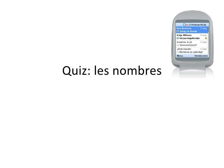 Quiz: les nombres