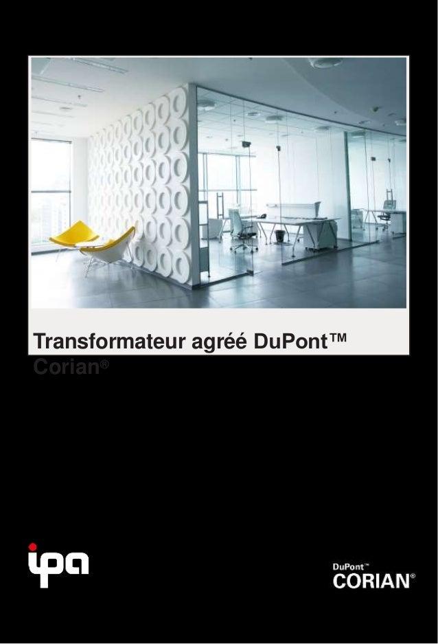 Transformateur agréé DuPont™ Corian®