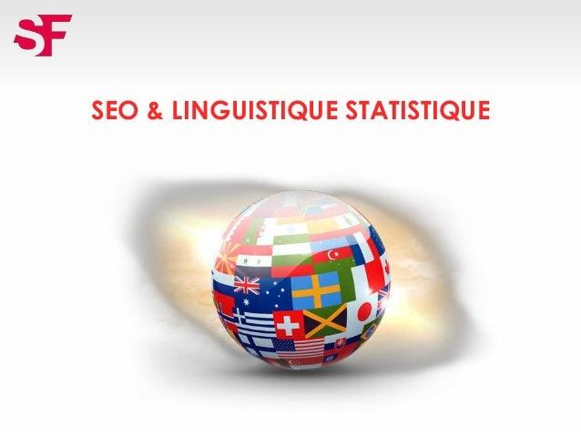 SEO & LINGUISTIQUE STATISTIQUE