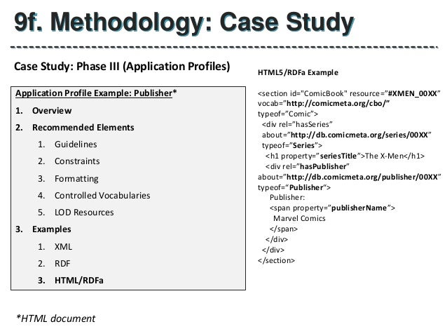 Thesis Proposal User Application Profiles For Publishing