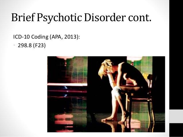 brief psychotic disorder