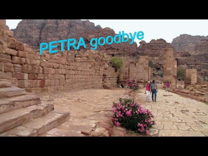 Petra goodbye