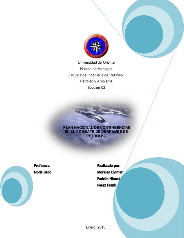 Universidad de Oriente                       Núcleo de Monagas                Escuela de Ingeniería de Petróleo.          ...