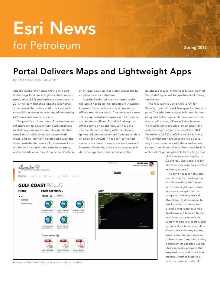 Esri News for Petroleum—Spring 2012