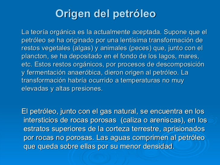 Química orgánica - Petroleo