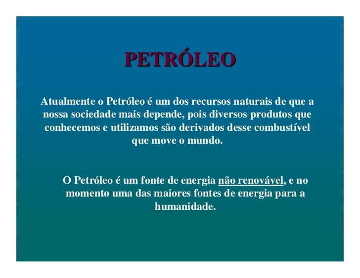Petroleo   aula ppt.