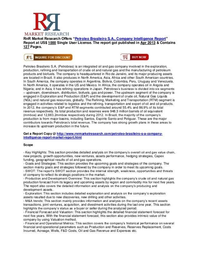 Petroleo Brasileiro SA Company Intelligence Report