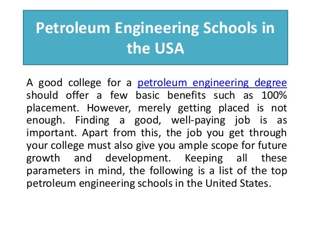 Petroleum Engineering top colleges for english major