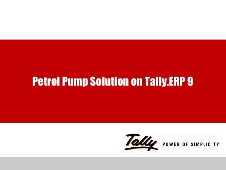 Petrol Pump Solution on Tally.ERP 9