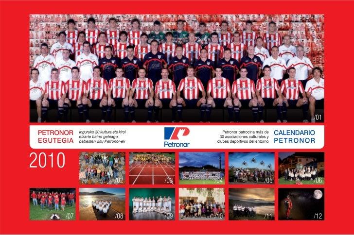 Petronor calendario Athletic 2010