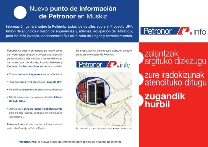 Petronor.info - Oficina de atención al ciudadano en muskiz
