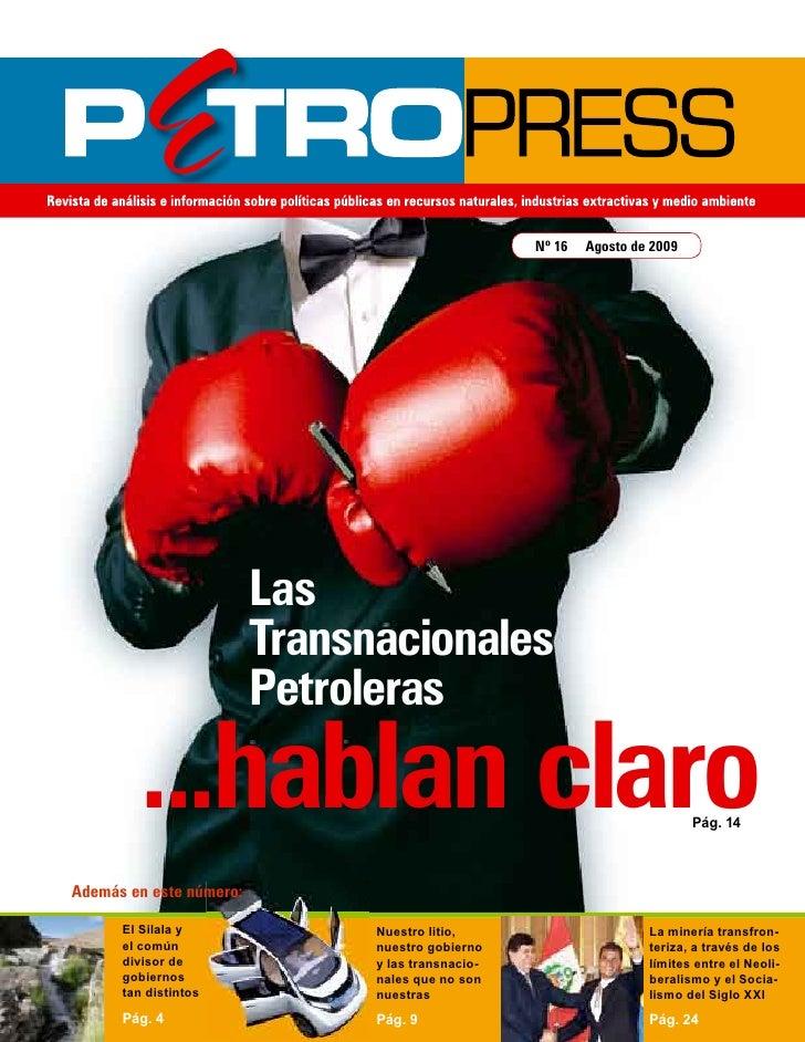 Nº 16   Agosto de 2009                              Las                          Transnacionales                          ...