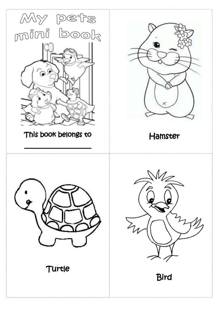 Pets mini book preschool