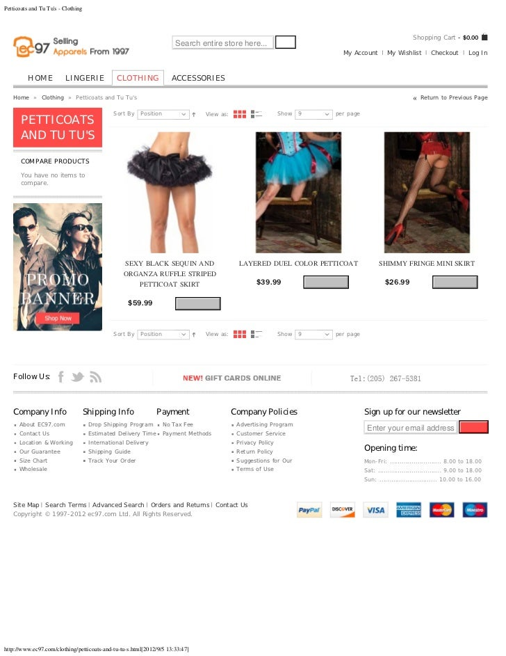 Sexy Petticoats and tu tu's   clothing