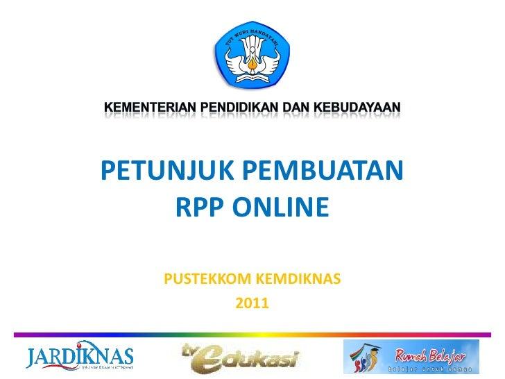 Petunjuk pembuatan RPP online
