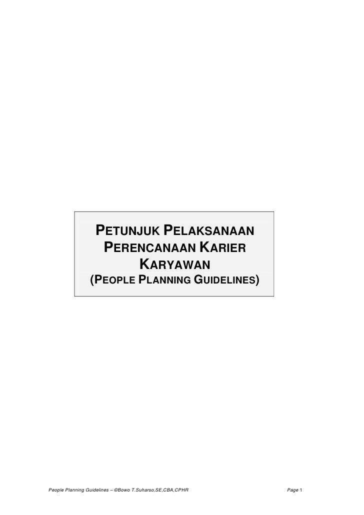 PETUNJUK PELAKSANAAN                   PERENCANAAN KARIER                       KARYAWAN                (PEOPLE PLANNING G...
