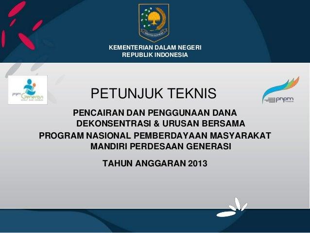 Petunjuk teknis dekon& ub 2013