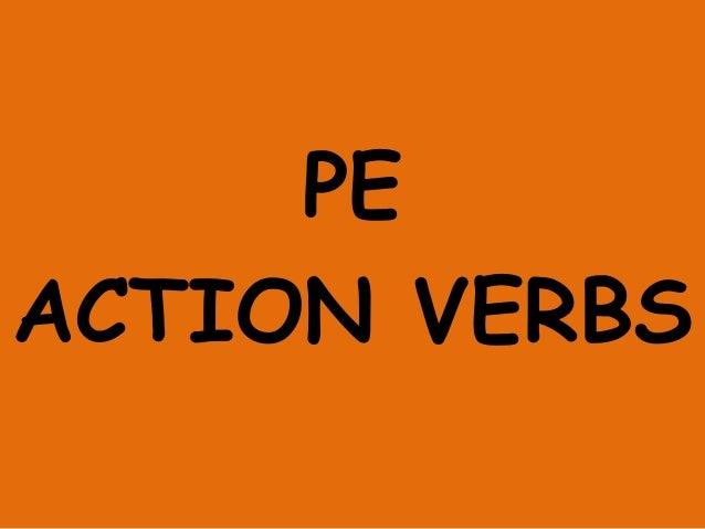 PE ACTION VERBS