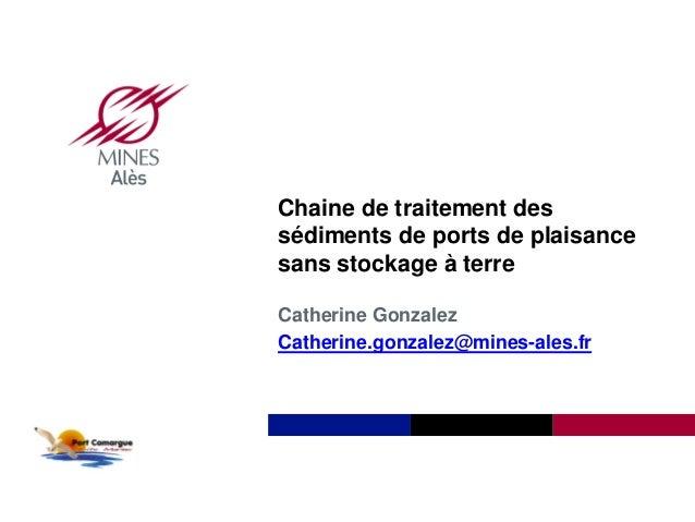 Institut Mines-Télécom Chaine de traitement des sédiments de ports de plaisance sans stockage à terre Catherine Gonzalez C...