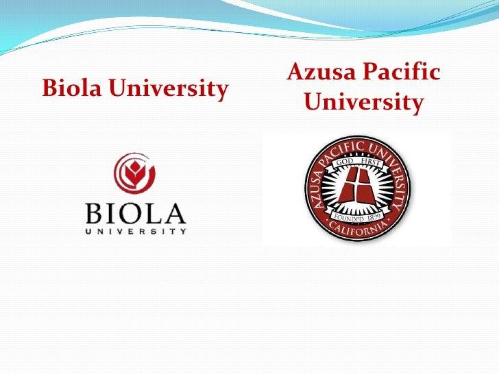 Azusa PacificBiola University                    University