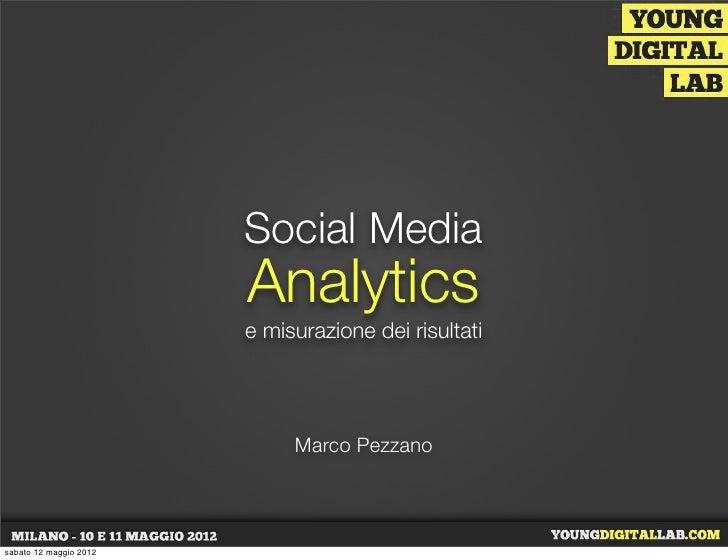 Social Media Analytics e misurazione dei risultati - Marco Pezzano