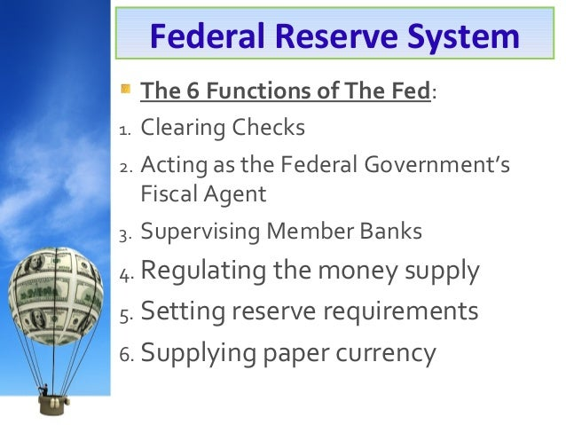 the federal reserve system Application and enrichment t he federal reserve system and monetary policy a national bank directions: alexander hamilton was george washington's secretary of the treasury and an ardent.
