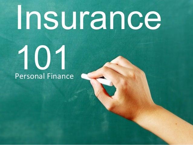 Personal Finance Insurance 101