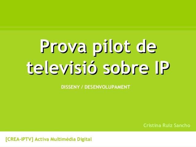 """Cristina Ruiz Sancho, """"Tweet@TV, la Televisió Social en 140 caràcters"""""""