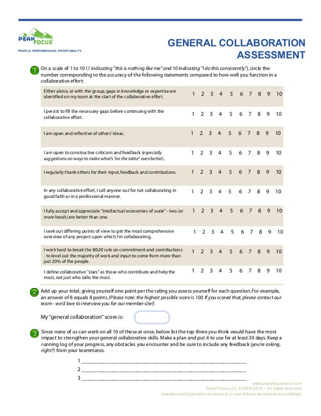 General Collaboration Assessment