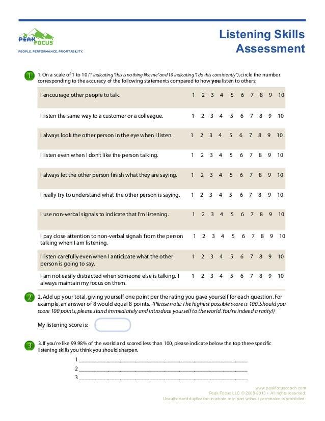 Listening Skills Assessment