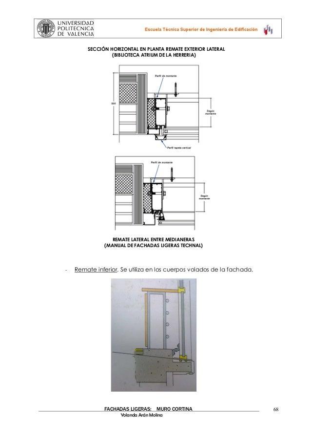 Muros cortina - Remate de cortinas ...