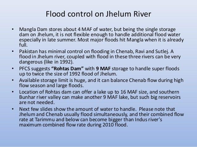 Flood Control Dam Flood Control on Jhelum River