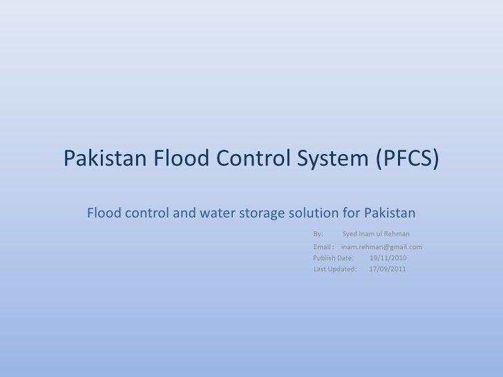 Pakistan Flood Control System