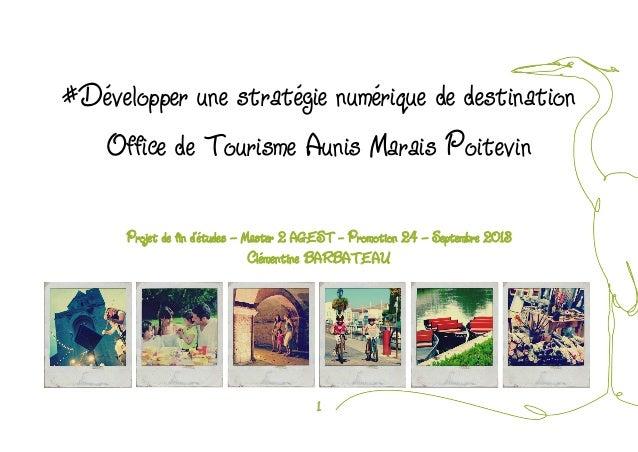 1  #Développer une stratégie numérique de destination  Office de Tourisme Aunis Marais Poitevin  Projet de fin d'études – ...