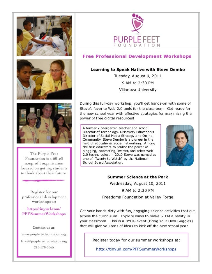Free Professional Development Workshops                                        Learning to Speak Native with Steve Dembo  ...