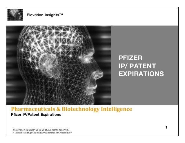 Elevation Insights™ | Pfizer IP/Patent Expirations