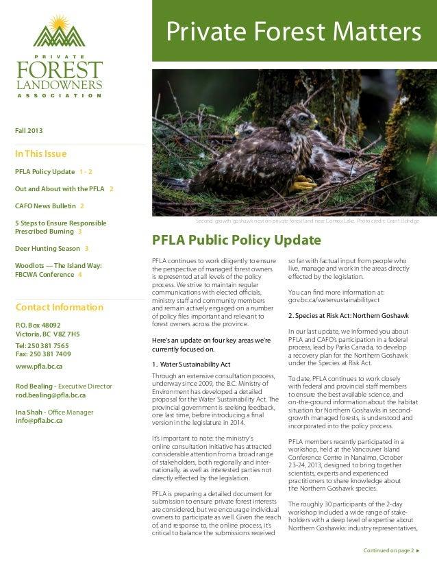 PFLA Newsletter (Fall 2013)