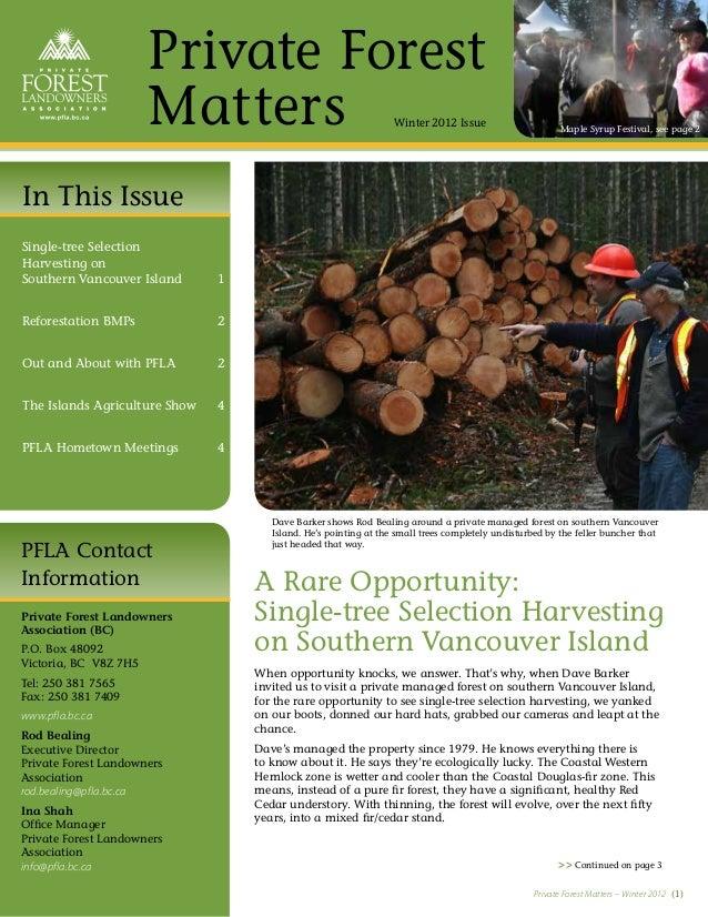 PFLA Newsletter—Winter 2012