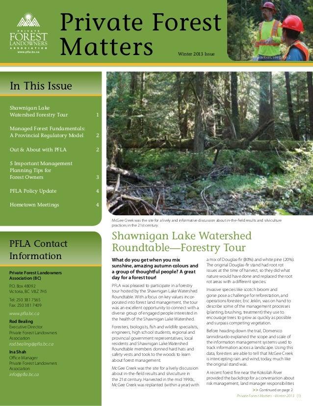 PFLA Newsletter—Winter 2013