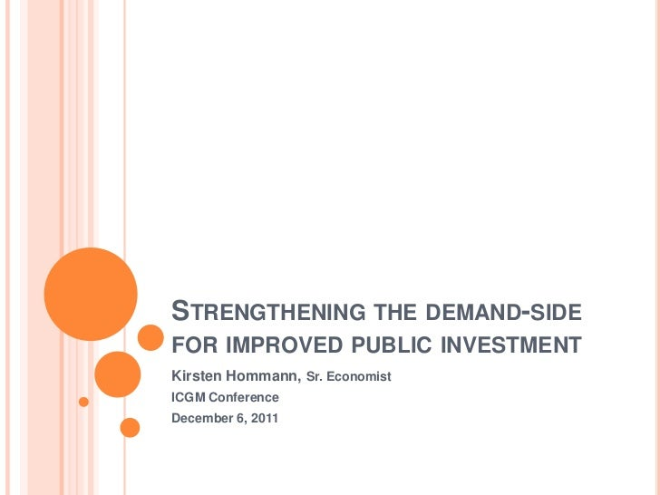 Strengthening the demand-side for improved public investment