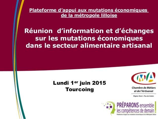 Plateforme d'appui aux mutations économiques de la métropole lilloise Réunion d'information et d'échanges sur les mutation...