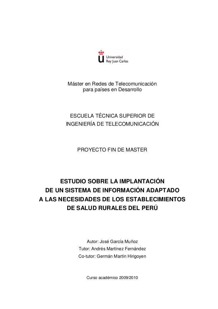 Máster en Redes de Telecomunicación              para países en Desarrollo        ESCUELA TÉCNICA SUPERIOR DE       INGENI...