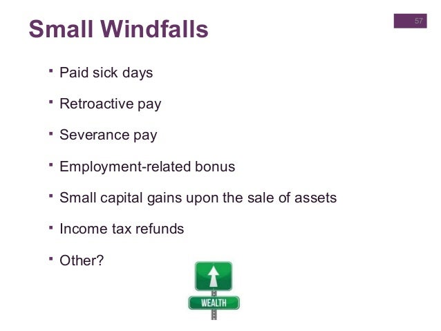 Windfall tax benefit stock options