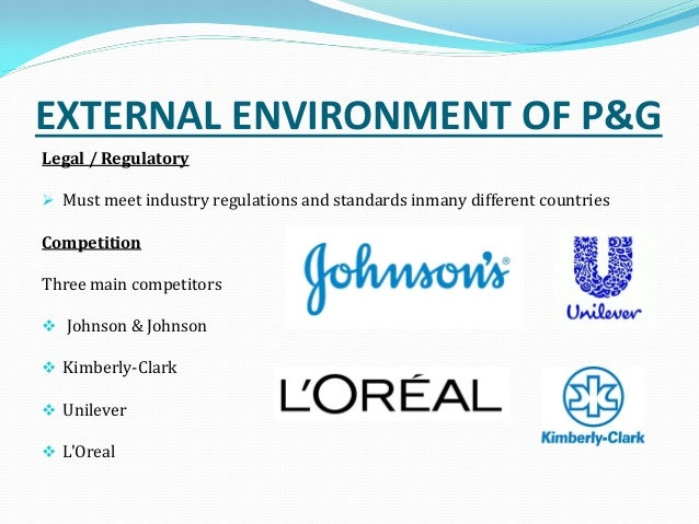 environmental scanning of procter and gamble Strategic analysis of procter and gamble company overview: procter & gamble (p&g) is america's biggest maker of household products, with at least 250 brands in six .