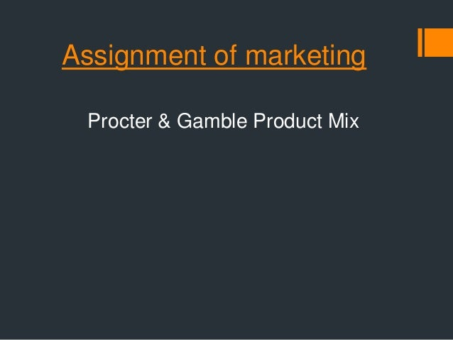 what is the product mix of procter and gamble List of proctor & gamble brands, including some of the manufacturer's most highly recognizable products proctor & gamble is a long standing company that ma.