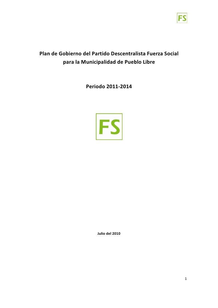 PlandeGobiernodelPartidoDescentralistaFuerzaSocial              paral...