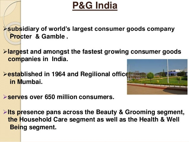 procter gamble the beauty feminine care segment of the consumer goods Description the procter & gamble company is engaged in the manufacture and sale of a range of branded consumer packaged goods the company operates in five segments: beauty, grooming, health care .